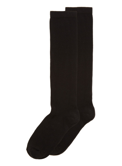 Womens Black Plain Knee Socks 2 Pack | Tu clothing
