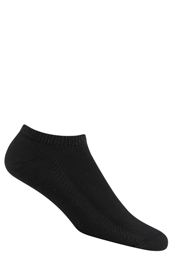 Wigwam Dash Low Cut Black Ankle Socks up to size 16 | Wigwam Socks