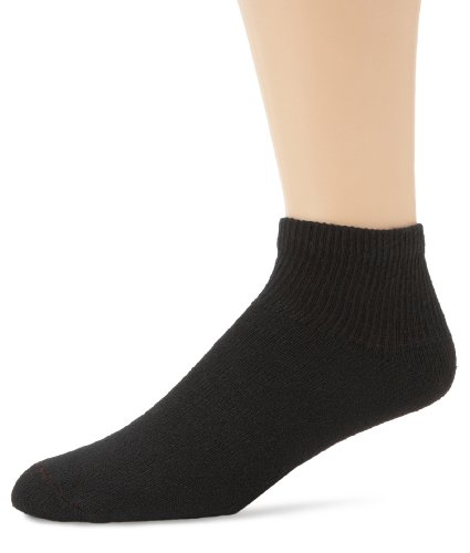 Hanes Men's 6 Pack Classics Cushion Ankle Socks, Black, 10-13 (Shoe