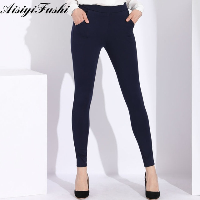 High Waist Pants Plus Size Women'S Trousers Classic Large Size Black