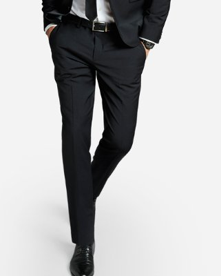 Extra Slim Black Performance Stretch Wool-blend Suit Pant | Express