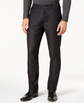 Ryan Seacrest Distinction Men's Slim-Fit Black Dress Pants, Created