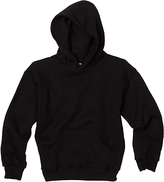 Amazon.com: MJ Soffe Big Boys' Basic Hooded Sweatshirt, Black, Large