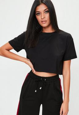 Black Tops | Plain Black Tops - Missguided