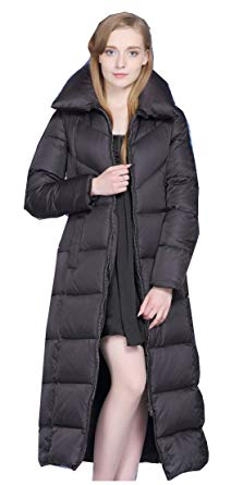 Amazon.com: UAISI Women Thick Goose Down Coat Long Winter Parka