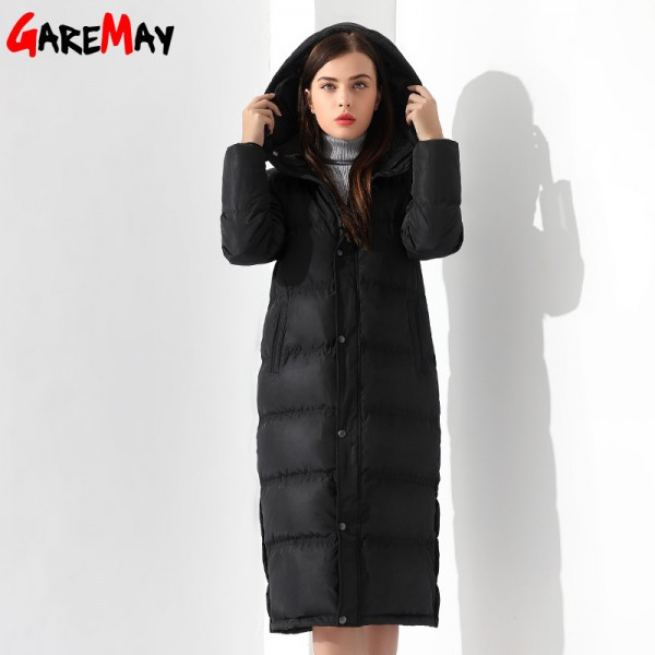 Buy Down Jackets Women Coat Winter Warm Extra Long Jacket Female