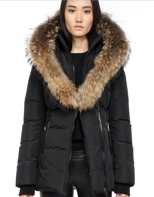 Mackage Adali F4 Womens Fur Hood Black Coats On Sale | Baby, It's
