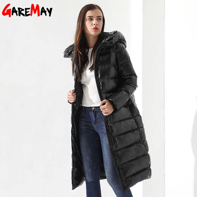 Online Shop Winter Down Jacket For Women Doudoune Femme Long Feather
