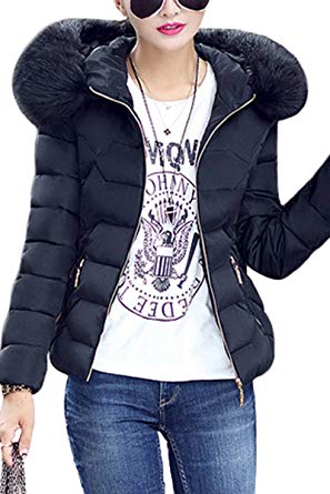 Amazon.com: YMING Women's Winter Down Coat Cotton Parka Fur Faux