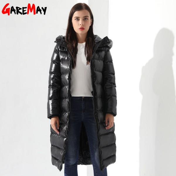 Black Winter Down Coats for Women