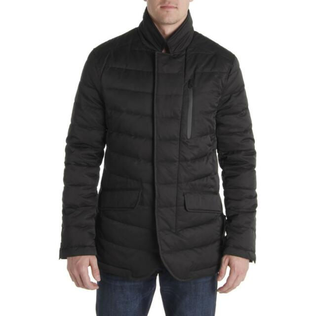 Buy Tahari Mens Black Winter Down Warm Quilted Coat Outerwear XL