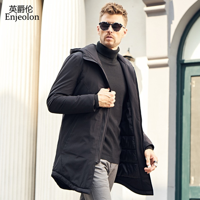 Black Winter Quilted Coats
