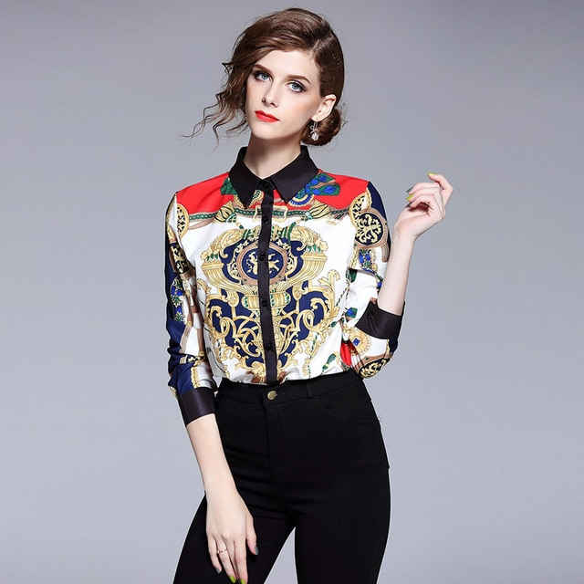 2019 Spring Womens Tops and Blouses Fashion Designers Runway Blouse