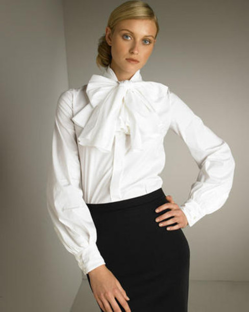 blouse, white blouse, chiffon blouse, lace blouses, blouse with bow