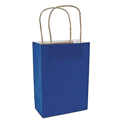 Amazon.com: Fun Express Blue Medium Craft Paper Bags (24 Pack