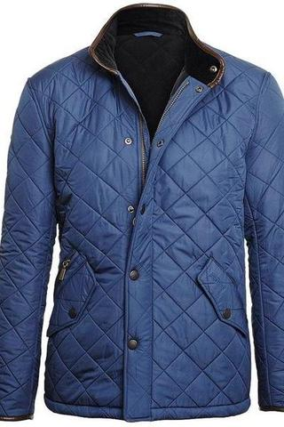 Barbour Powell Quilt Jacket - Blue Steel - Smyths Country Sports