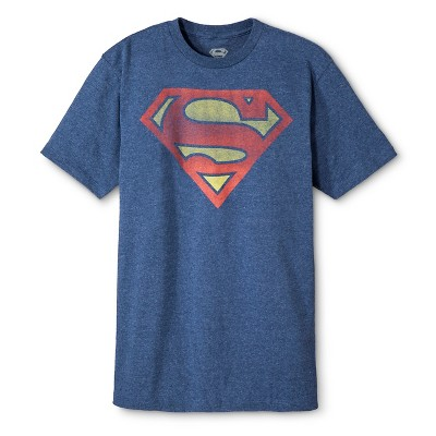 Men's Big & Tall Superman Shield T-Shirt Blue : Target
