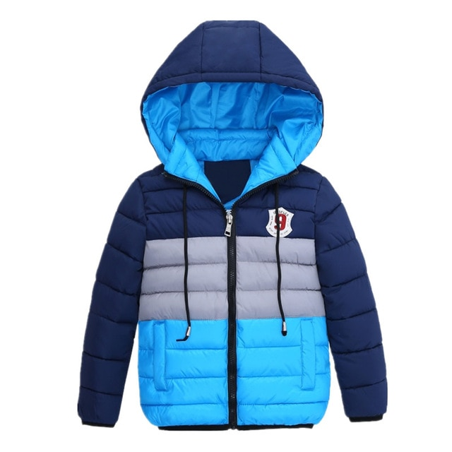 Boys Blue winter coats & Jacket kids Zipper jackets Boys thick