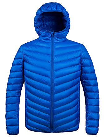 Amazon.com: ZSHOW Men's Winter Hooded Packable Down Jacket: Clothing