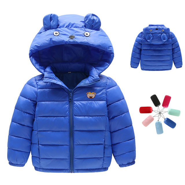 Boys Cartoon Blue Red Winter Coats Jacket Kids Zipper Jackets Boys