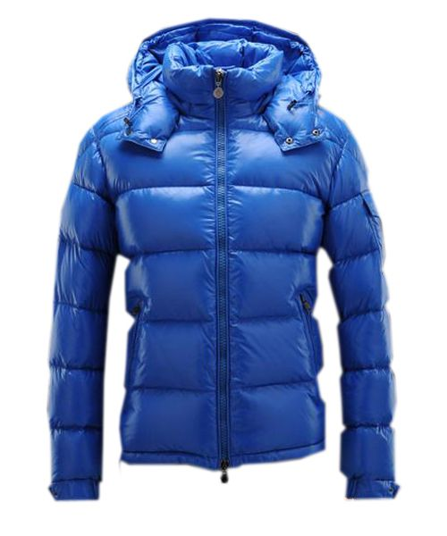 Moncler Maya Winter Mens Down Jacket Fabric Smooth Blue $222.99