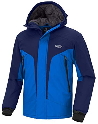 Amazon.com: Wantdo Men's Windproof Ski Fleece Jacket Waterproof