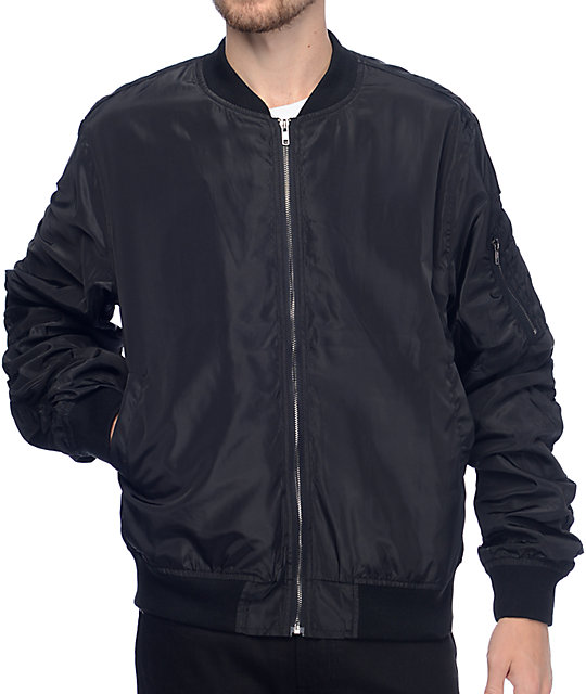 EPTM. Lightweight Black Bomber Jacket | Zumiez