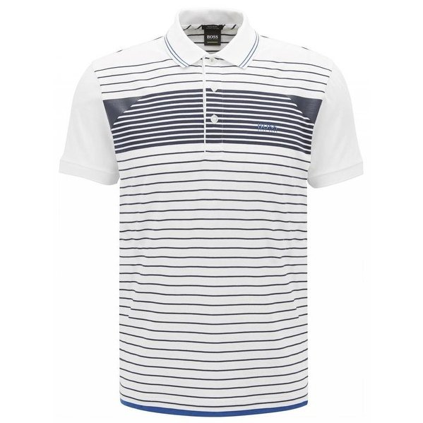 Shop Hugo Boss White Paddy 5 Polo T-shirt - Free Shipping Today