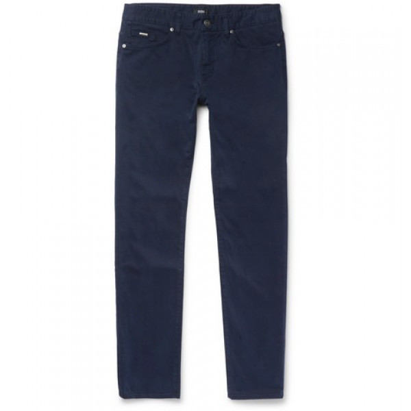 Hugo Boss Delaware Slim-Fit Stretch-Denim Jeans Men's Casual