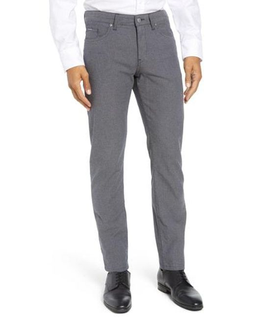 Lyst - Boss Delaware Slim Fit Herringbone Pants in Gray for Men