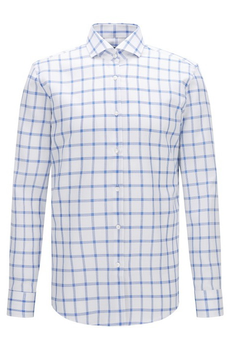 Winter Boss Windowpane Cotton Dress Shirt - Slim Fit | Jason - Mens