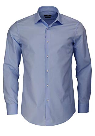 BOSS Men's Slim Fit Jenno Shirt Light Blue at Amazon Men's Clothing