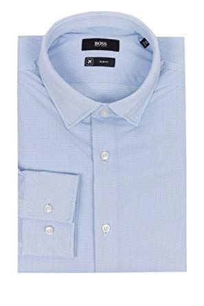 Amazon.com: Hugo Boss Jenno Slim Fit Performance Stretch Dress Shirt