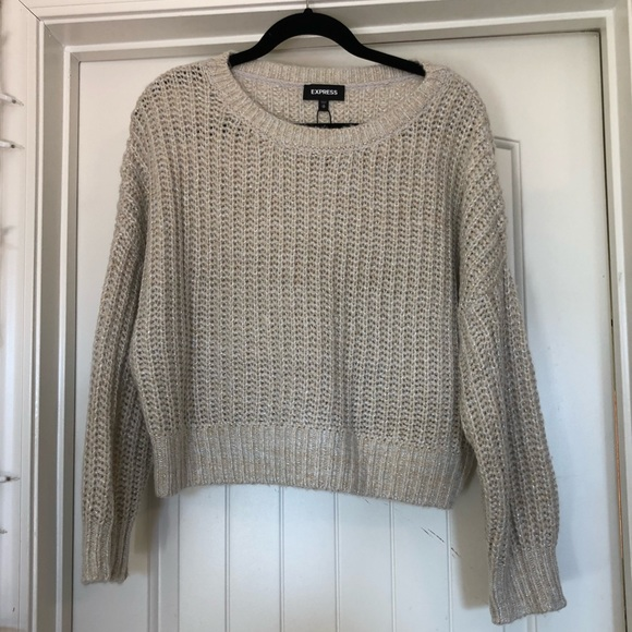 Express Sweaters | Metallic Boxy Sweater | Poshmark