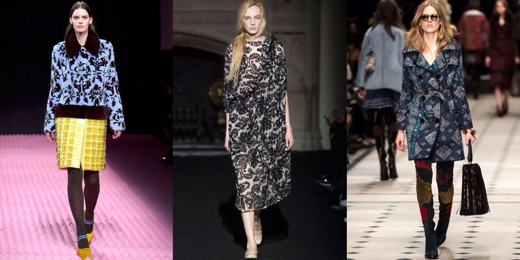 Brocade Fashion Trend at London Fashion Week - Fall 2015 Fashion Trends