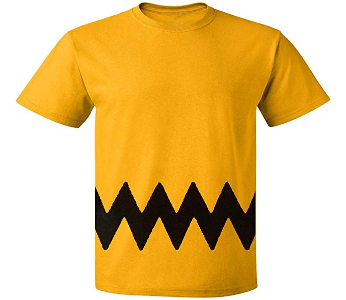 Amazon.com: Custom Kingdom Mens Peanuts Charlie Brown T-Shirt: Clothing