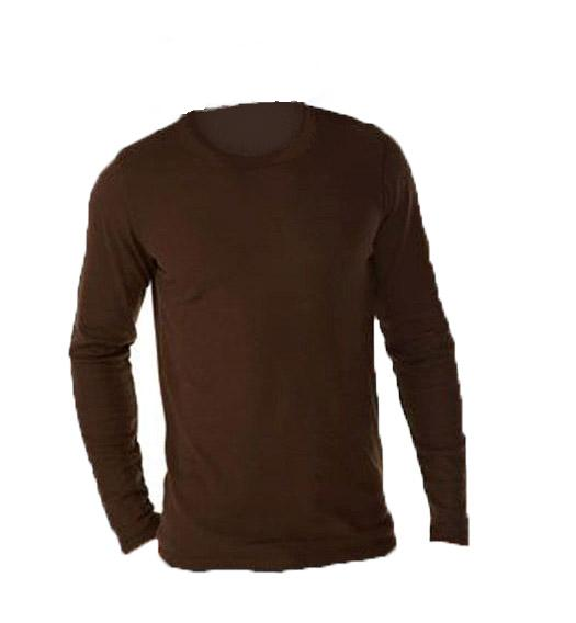Men's Long Sleeve Brown T-Shirt/ Under Shirt, GI | McGuire Army Navy