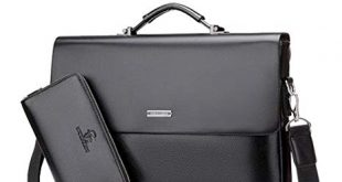 Amazon.com: Mioy Modern Men's leather Business Bag Water resistant