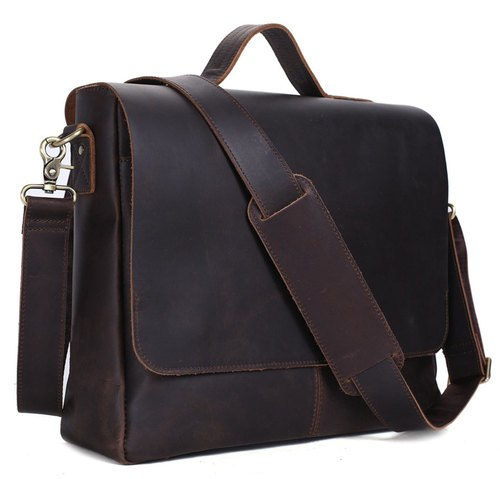 Pratt Leather Co. Maurice Messenger Bag Briefcase Vintage Leather