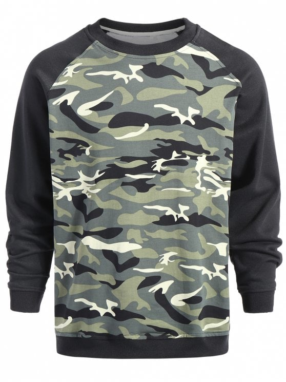 22% OFF] 2019 Pullover Camouflage Sweatshirt In CAMOUFLAGE XL | ZAFUL