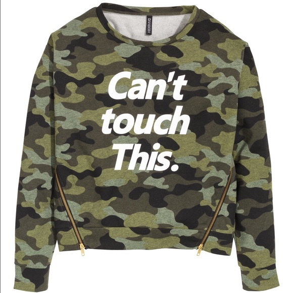 H&M Sweaters | Cant Touch This Hm Camouflage Sweater | Poshmark