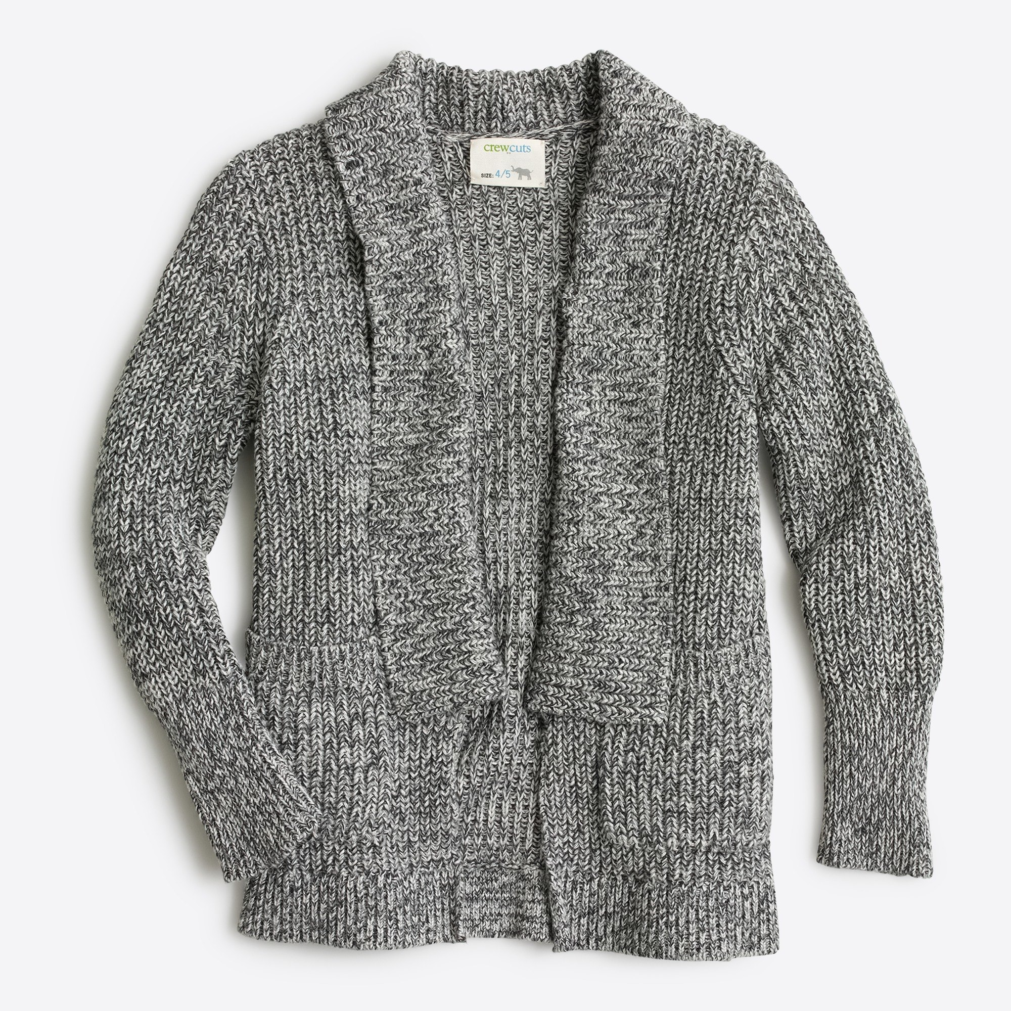Girls' marled rib-stitch open cardigan sweater : FactoryGirls