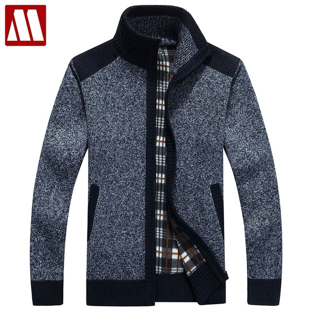 New Arrives Autumn Winter Men's Cardigans Sweaters Mandarin Collar