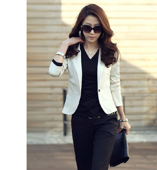 New Fashion Women Blazers and Jackets Slim Casual Short Ladies