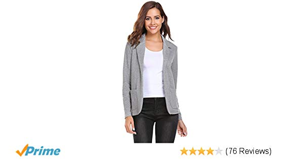 Zeagoo Womens Casual Work Office Blazer Open Front Long Sleeve