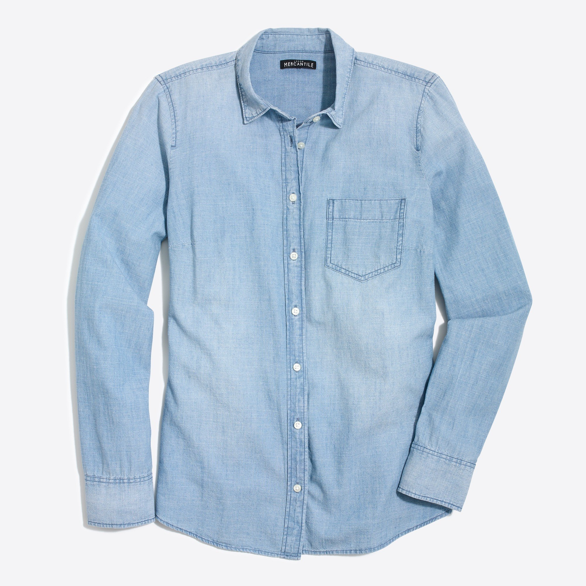 Petite chambray shirt in perfect fit : FactoryWomen Shirts & Tops
