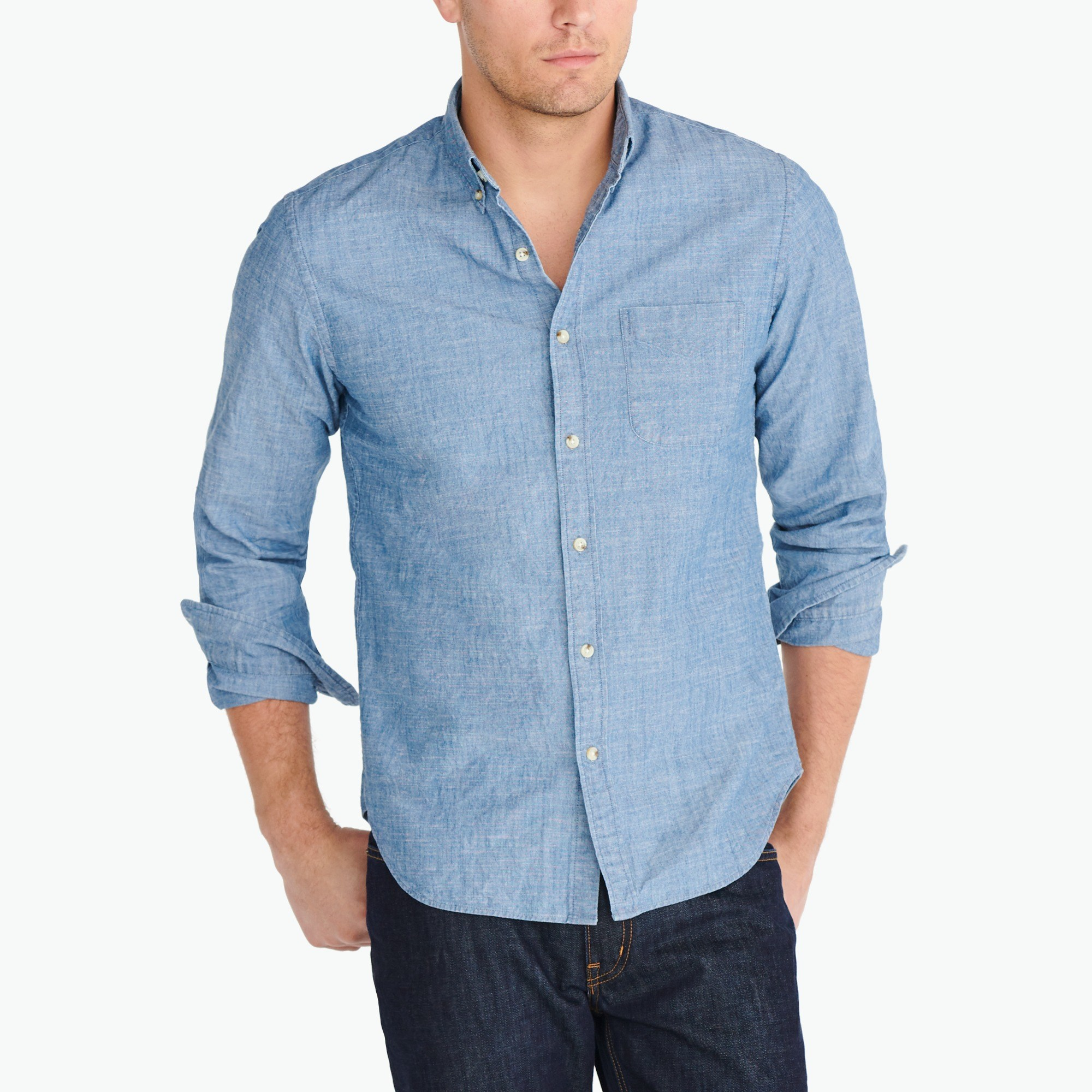 Flex chambray shirt : Men Classic | J.Crew