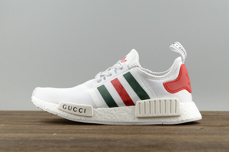 2017 Cheap Adidas Originals NMD X Gucci White Running Shoes S70162