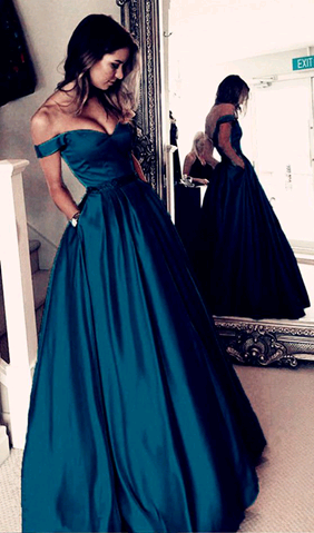 Newest Off The Shoulder Prom Dresses,Long Prom by Morebeauty on