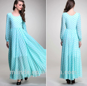 Elegant Muslimah Dress Long Sleeve Chiffon Fashion Beautiful
